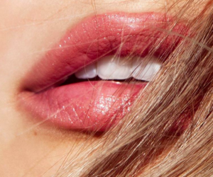 lips, beauty, and hair image