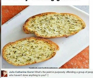 meme, truth, and garlic bread image