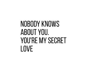 nobody, secret, and you image