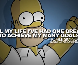 quote, simpsons, and homer image