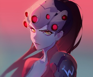 overwatch, widowmaker, and game image