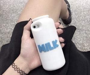 milk, grunge, and iphone image