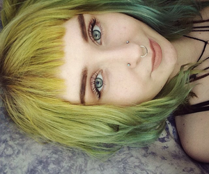 girl, green, and pretty image