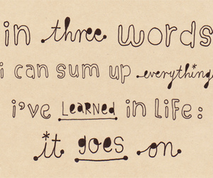 life, life goes on, and notebook dooddle image