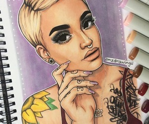 celeb, colour, and drawings image