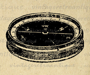 antique, art, and compass image