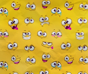 face, wallpaper, and yellow image