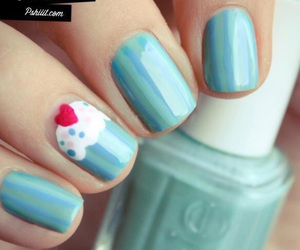 nails, cupcake, and blue image