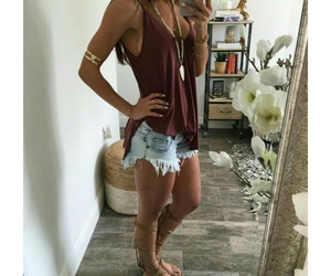fashion, high waisted, and shorts image