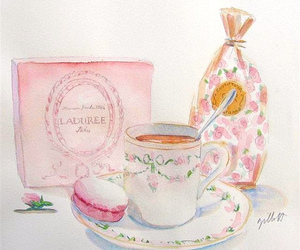 macaroons, pink, and tea image