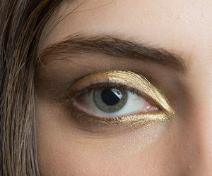 makeup, gold, and model image