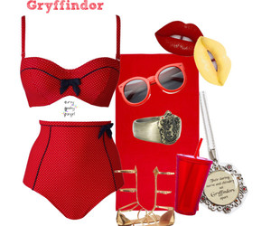 beach, gryffindor, and harry potter image
