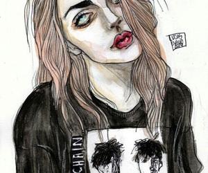 art, draw, and frances bean cobain image