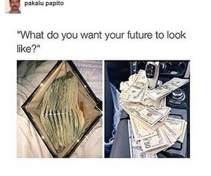 money, rich, and funny image