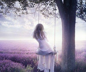 loneliness, purple, and sweet image