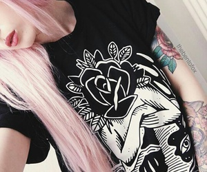 grunge, inked, and hair color image