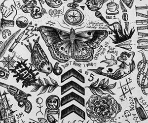 one direction, tattoo, and 1d image