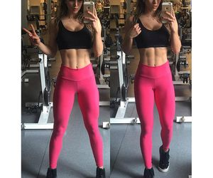 abs, muscle, and gym image