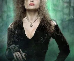 bellatrix lestrange, helena bonham carter, and harry potter image