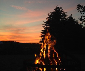 nights, summer, and bon fire image