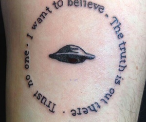 alien, I want to believe, and mulder image