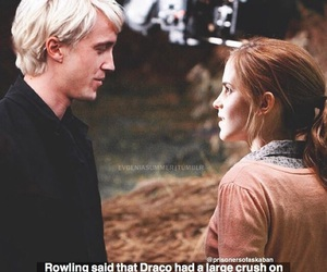 harry potter, hogwarts, and dramione image