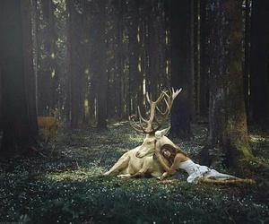 girl and deer image