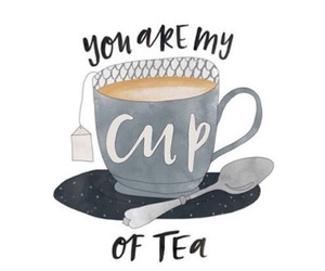 tea, quote, and cup image