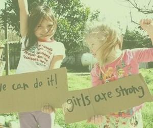 girl, strong, and girl power image