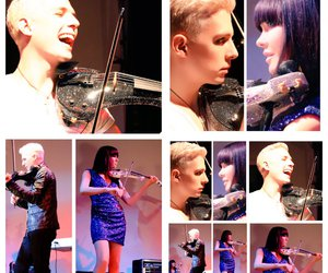 linzi stoppard, electric violinist, and fuse violin band image