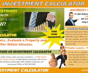 return on investment, cash flow analysis, and cash flow calculator image