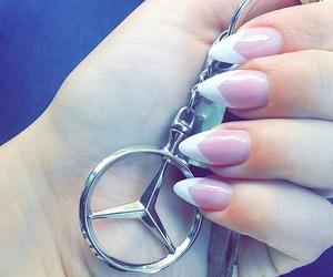 french, mercedes, and nail image