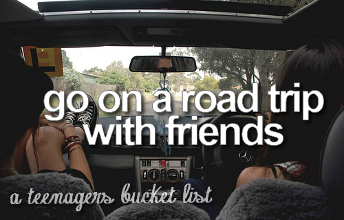 A teenagers bucket list uploaded by Kathrin S