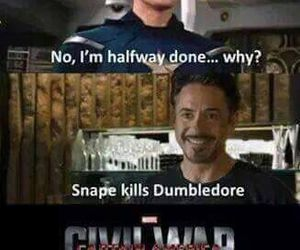 funny, harry potter, and civil war image