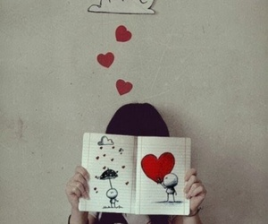 love, heart, and book image