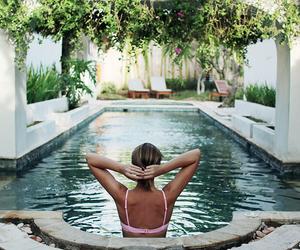 pool, girl, and summer image