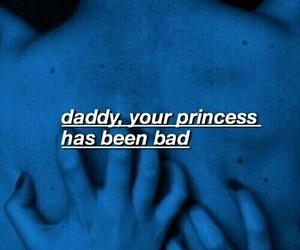 daddy, princess, and blue image