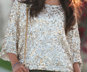 fashion, gold, and sequin image
