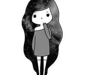 black and white and galaxy image