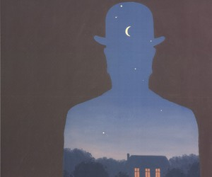 art, magritte, and paint image