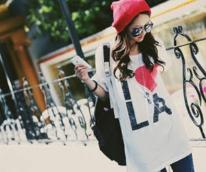 girl and la image