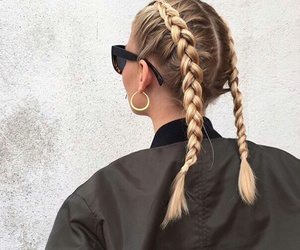 braid, girl, and fashion image