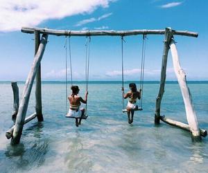 amusement park, beach, and beautiful image