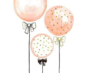 balloons, pink, and painting image