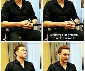tom hiddleston, funny, and tumblr image