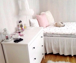 room, bed, and girly image