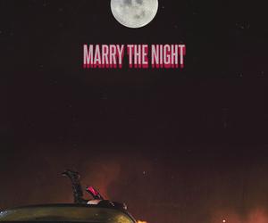 Lady gaga, car, and moon image