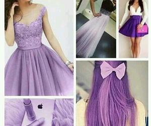 purple, dress, and hair image