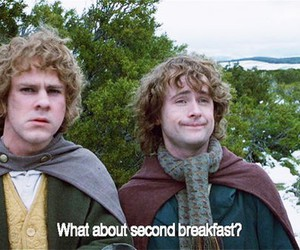 breakfast, lord of the rings, and pippin image