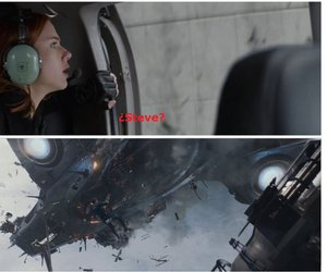 black widow, steve rogers, and maria hill image